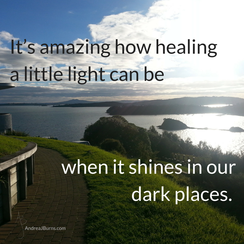 It's amazing how healing a little light can be